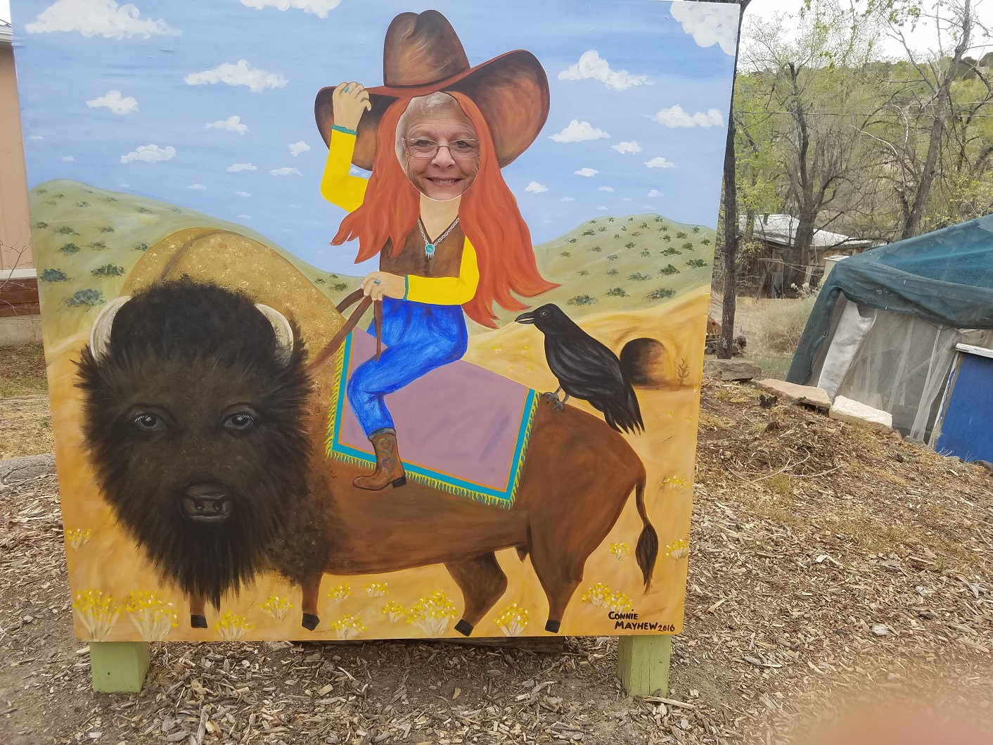 Me on my first buffalo ride...giddy-up...lol