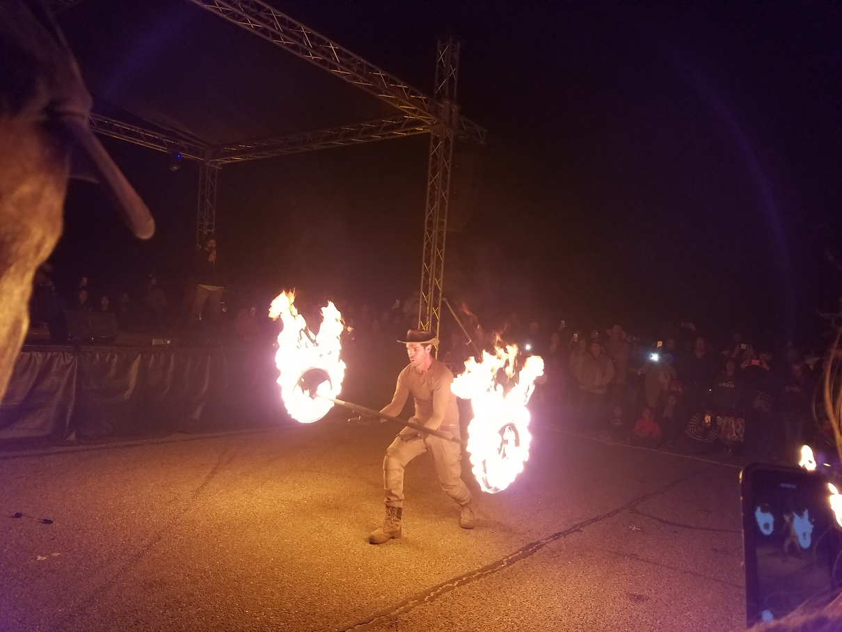 These flame artists were amazing