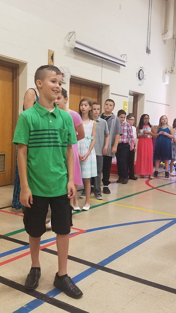 Cameron at 5th grade graduation