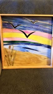My friend Cheryl helped me create this stained glass tray...can't thank her enough